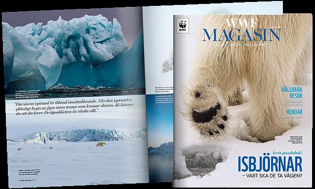 WWF Magasin Bortom isbjörnens rike Årets Pandabok 2020