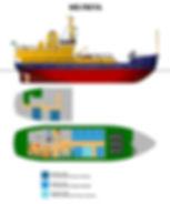 MS Freya deckplan Spitsbergen