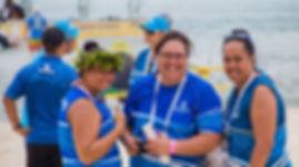 3 Bluesky womenfolk, Cook Islands head ei, Muri Beach, Capt Tamas
