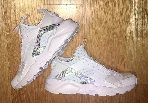Swarovski Crystal bling Nike Air Huarache shoes. Workout in style and class  with these gorgeous Nike shoes! Guaranteed to catch everyone s attention no  ... 972d65089a