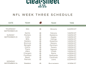 NFL Week Three Schedule
