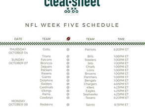 NFL Week Five Schedule