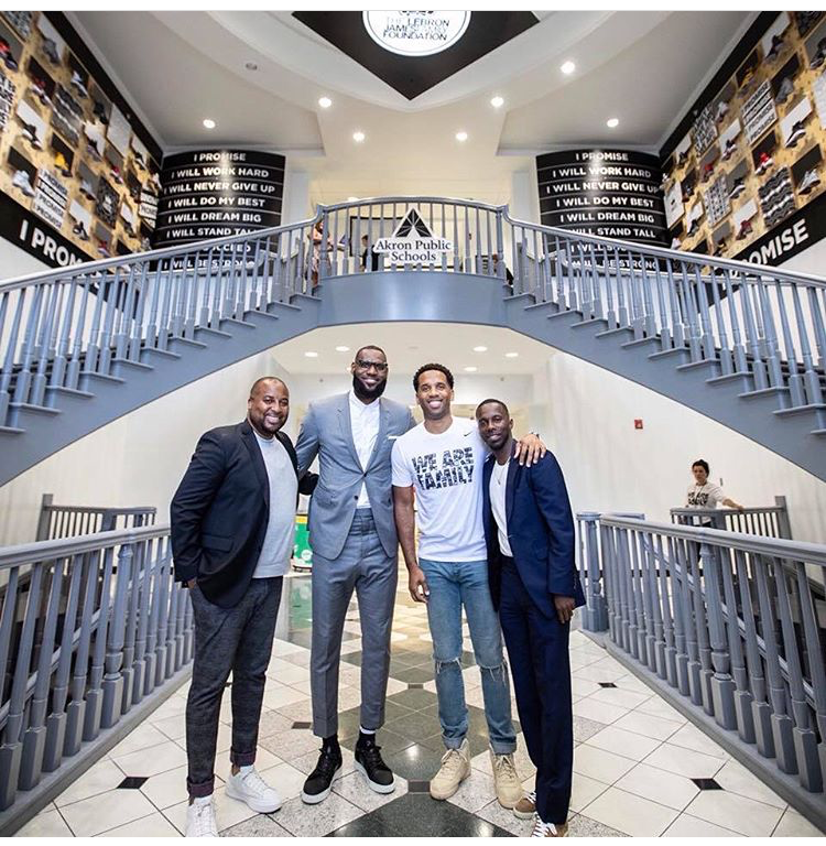 LeBron James and friends/business partners