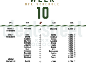 Week 10: NFL Schedule