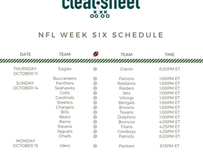 NFL Week Six Schedule