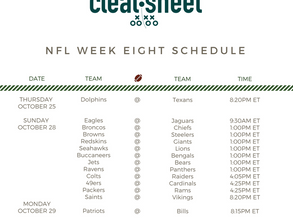 NFL Week Eight Schedule