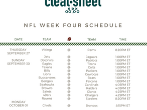 NFL Week Four Schedule
