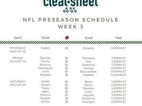 NFL Preseason Week 3 Schedule