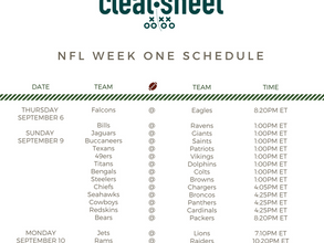 NFL Week One Schedule