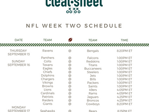 NFL Week Two Schedule