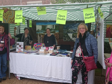 APC at Letchworth Festival in June 2015 advertising their presence in the forthcoming Herts Visual A