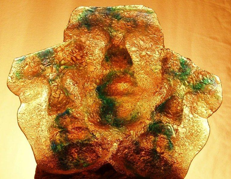 Me, Myself, I 2009 sand cast crystal glass