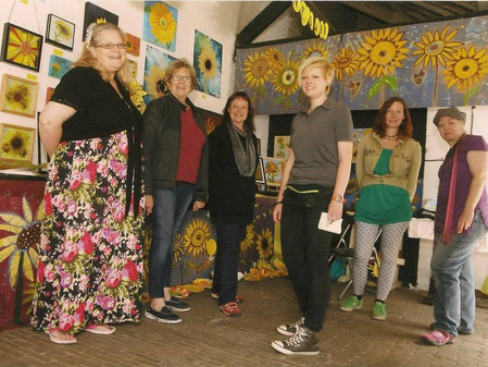 Rhythms of the World Artists in Residence - ROTW Project Sunflower Exhibition at Bucklesbury Day, Ju