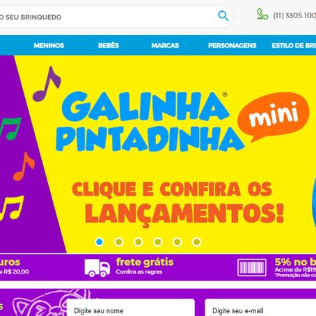 Novas campanhas digitais da Galinha Pintadinha