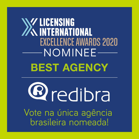 Redibra é indicada melhor Agência para o Licensing International Awards