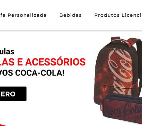 Coca-Cola lança venda de produtos licenciados em seu e-commerce!