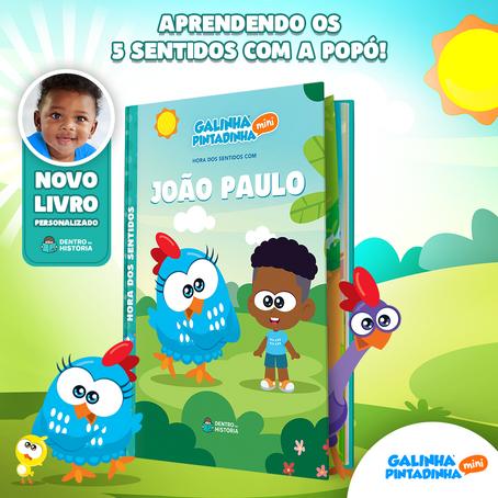 """""""Hora dos Sentidos"""": novo título da coleção Galinha Pintadinha Mini na Dentro da História"""