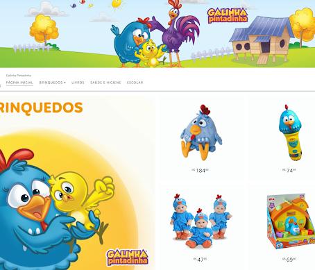 A nova loja da Galinha Pintadinha já está no ar!