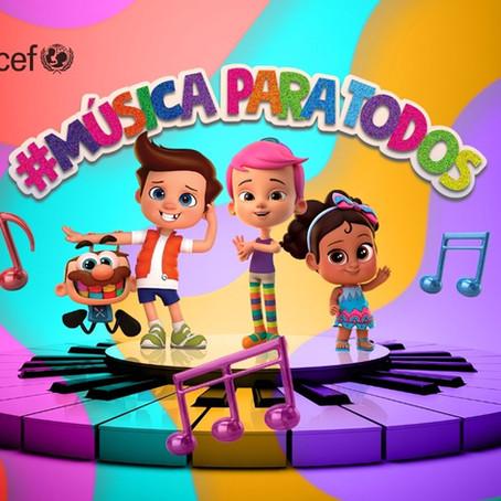 Unicef Brasil, MPT e TotoyKids lançam #músicaparatodos projeto musicalinclusivo na linguagem brasil