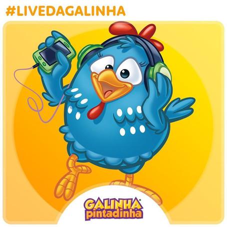 Galinha Pintadinha faz sua primeira live