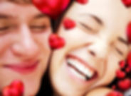 Closeup of young couple embracing and ve