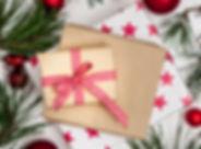 Greeting card - Christmas white wood bac