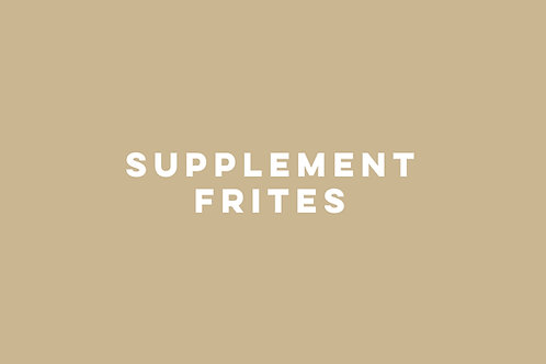 Supplement frites met fritessaus