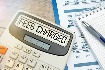 Concept Fees_ FEES CHARGED words on calculator..jpg