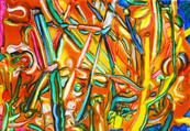 《にわ》 キャンバスに油彩/16×23cm/2017 《Garden》 Oil on canvas