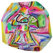 《天満橋の天使》エスキース / ポリスチレンフォームに油彩/26.5×25×2cm/2018 《Angel of Tenmabashi》Esquisse /Oil on polystyrene form