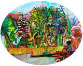 《坂本の木々》 キャンバスに油彩/40×50cm/2018 《 The trees of Sakamoto》Oil on canvas