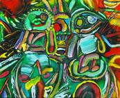 《境谷の宇宙 1》 キャンバスに油彩/22×27.5cm/2018 《Sakaidani's Universe 1》Oil on canvas