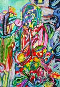 《苔の地蔵》  キャンバスに油彩/23×16cm/2018 《Moss Jizo》 Oil on canvas