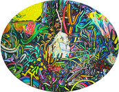 《硬い犬》 キャンバスに油彩/40×50cm/2018 《Hard dog》Oil on canvas