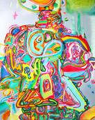 《天満橋の天使-03-》 キャンバスに油彩/100×80.5cm/2018 《Angel of Tenmabashi-03-》 Oil on canvas