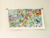 《鳥ノ木》エスキース / キャンバスに油彩/18×32cm/2018 《Bird tree》Esquisse / Oil on canvas