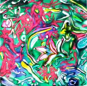 《皿》 キャンバスに油彩/23×23cm/2017 《Dish》Oil on canvas