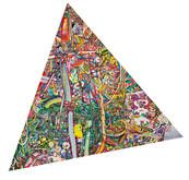 《たぬき △ うえき》 キャンバスに油彩/180×180cm 変形 /2017 《Tanuki △ Ueki》 Oil on canvas