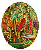 《サボテン》 キャンバスに油彩/50×40cm/2018 《Cactus》   Oil on canvas