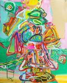 《天満橋の天使》 キャンバスに油彩/91×73cm/2018 《Angel of Tenmabashi》Oil on canvas