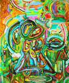 《天満橋の天使-01-》 キャンバスに油彩/73×60.5cm/2018 《Angel of Tenmabashi-01-》Oil on canvas