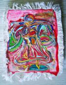 《天満橋の天使》エスキース / キャンバスに油彩 / 23×17×2cm/2018 《Angel of Tenmabashi》Esquisse / Oil on canvas
