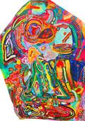 《天満橋の天使-04-》    ポリスチレンフォームに油彩/130×90×4cm/2019 《Angel of Tenmabashi-04-》 Oil on polystyrene form