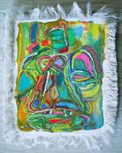 《天満橋の天使》エスキース / キャンバスに油彩 / 21×17×2cm/2018 《Angel of Tenmabashi》Esquisse / Oil on canvas