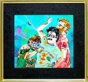 《凧上げ》 キャンバスに油彩/38,2×41,2cm/2017 《Kite rise》Oil on canvas