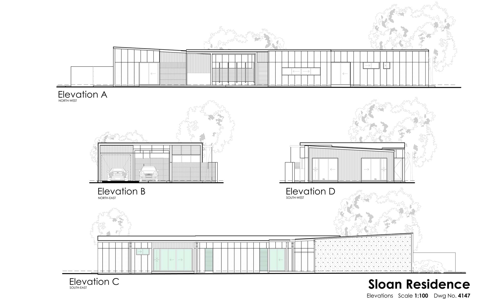 sloan residence elevations