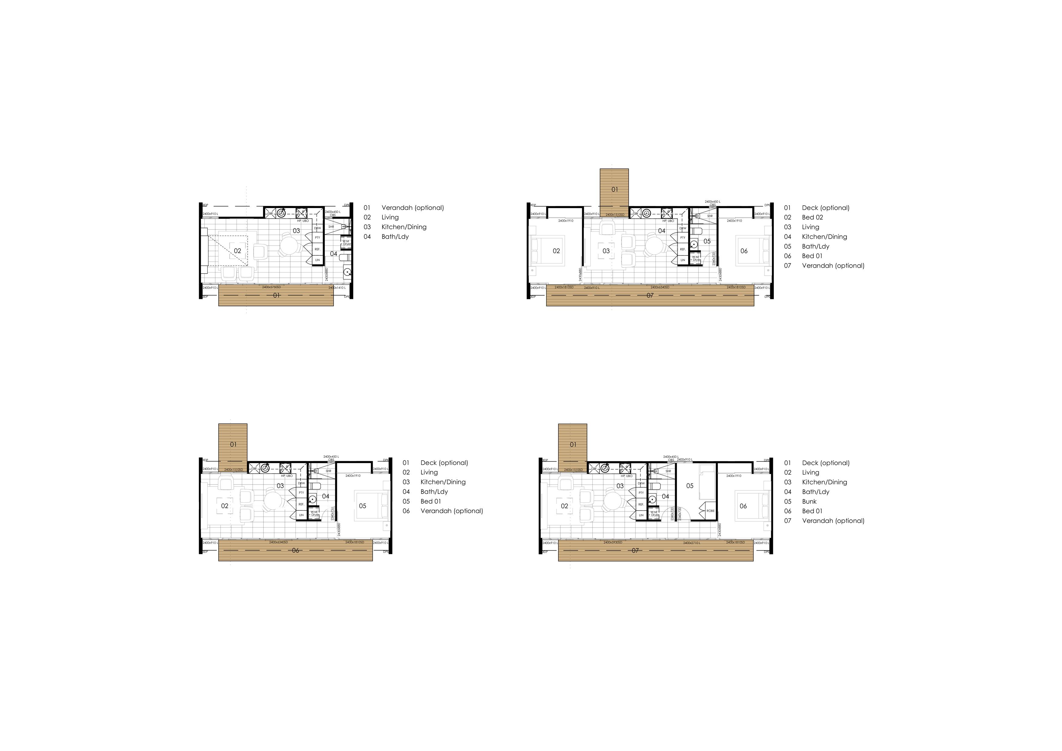 Archibungalows Floor Plans