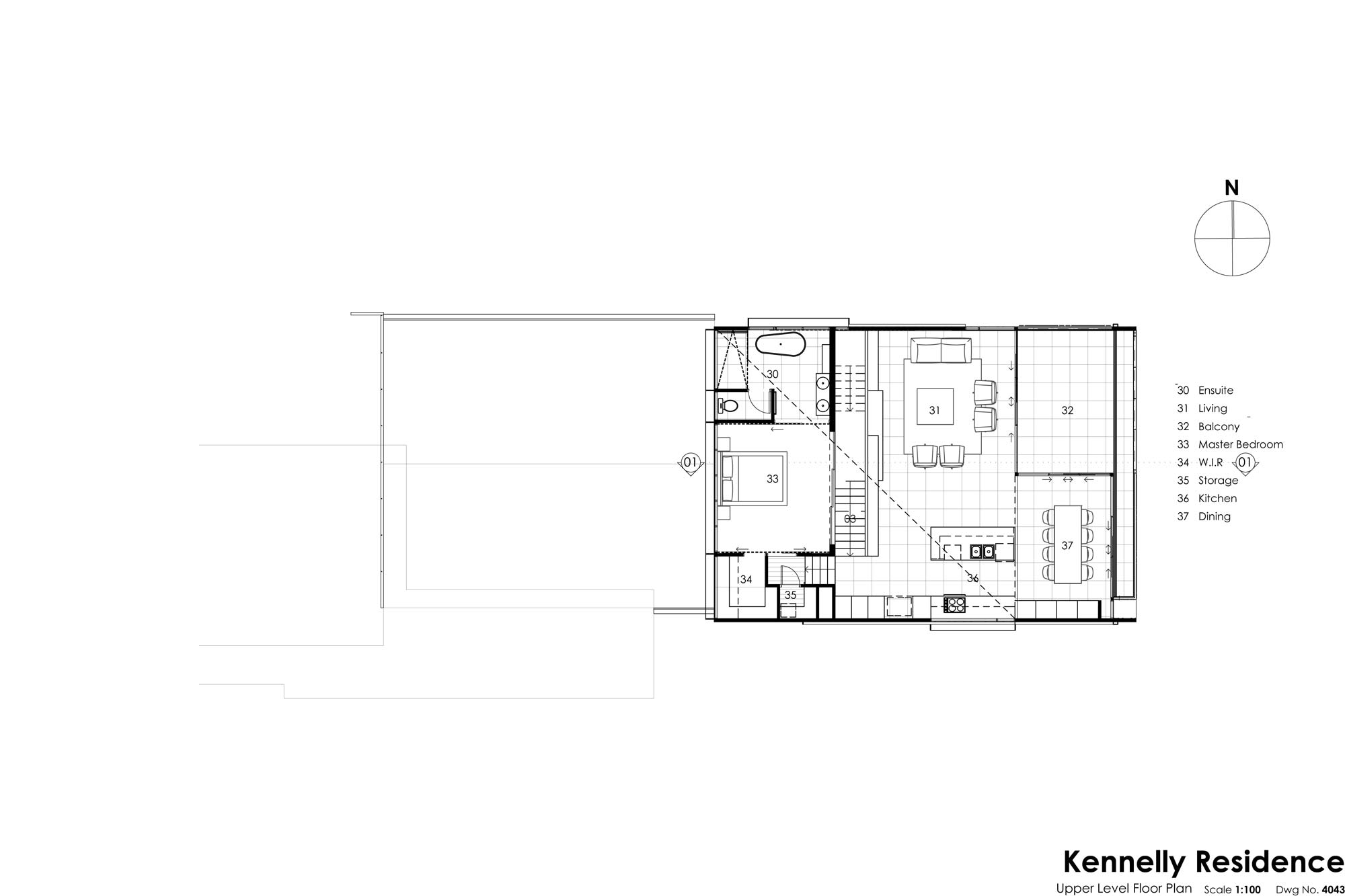 kennelly upper floor plan