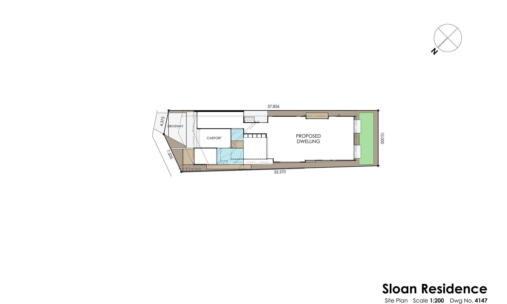 sloan residence site plan