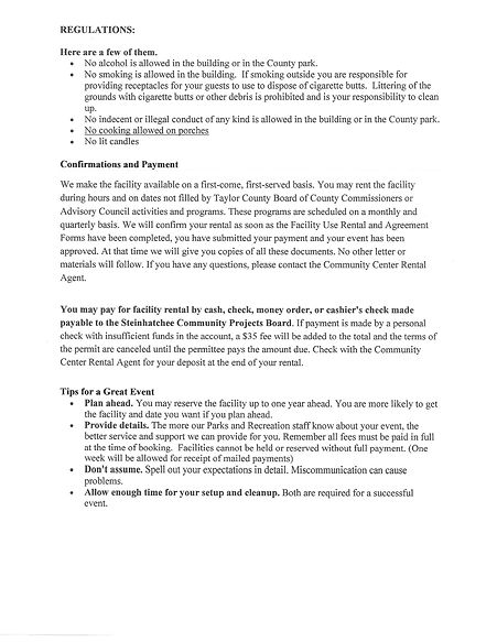 community center rental agreement pg 3.j